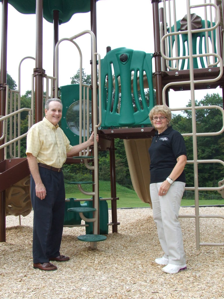 A community grant to Cornerstone Ministry Center enabled them to build this playground at their camp and conference center.