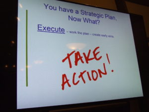 "A sign that says ""take action"""