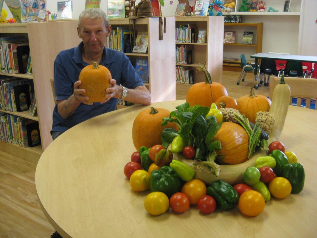 Produce from the Flenniken Library garden